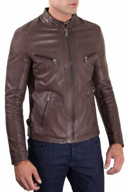 Leather jacket Ad Milano 0246_DARK_BROWN