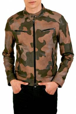 Leather jacket Ad Milano DAR506_CAMOUFLAGE_TAN
