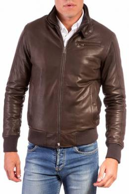 Leather jacket Ad Milano DAR529_DARK_BROWN
