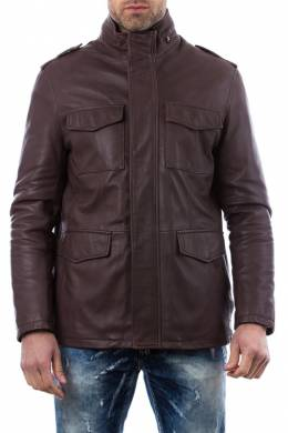 Leather jacket Ad Milano DAR543_BROWN