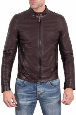 Leather jacket Ad Milano DAR528_DARK_BROWN
