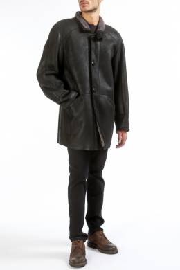 sheepskin coat HISO KOSH_SNT_CURLY_SCHWARZ