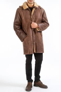 sheepskin coat HISO FELIX_RT_ANTIK_BRAUN