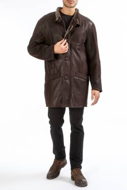 sheepskin coat HISO ADAM_SNT_IRON_BRAUN
