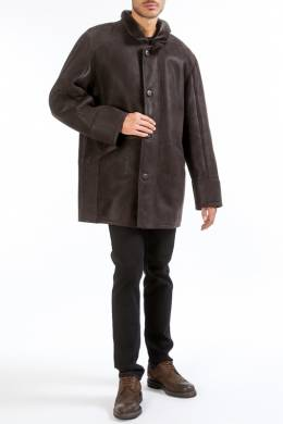 sheepskin coat HISO KOSH_SNT_IRON_BRAUN