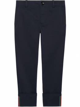 Gucci Kids Children's gabardine pant with Web 475447XBB56