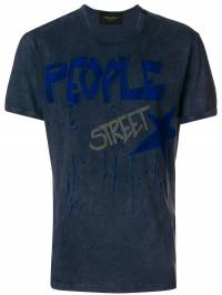Mr & Mrs Italy - washed text-print T-shirt 30E93655600000000000