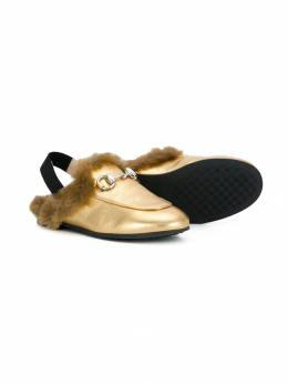 Gucci Kids - faux fur slingback loafers 9906SB96930656390000