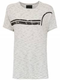 Andrea Bogosian - t-shirt with front striped front detail 66993695035000000000