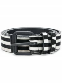 Haider Ackermann - striped medium buckle belt 69603659089963000000