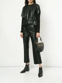 Goen.J - faux-leather cropped trousers 8PFPT609399396800000