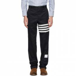 Thom Browne Navy Seamed Four Bar Unconstructed Chino Trousers 182381M19101106GB