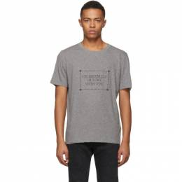 Saint Laurent	 Grey Im Brutally In Love With You T-Shirt 182418M21301506GB