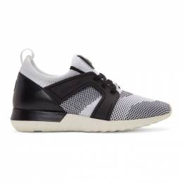 Moncler White and Black Emilien Scarpa Sneakers 10141 00 019YE