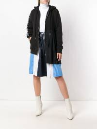Each X Other - Pleated Zip-Front Hoodie 8G936369303535300000