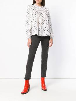 Ulla Johnson - dotted cropped jeans 86563939365350000000