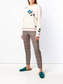 Alberto Biani - checked cropped trousers 55WO0689930395600000