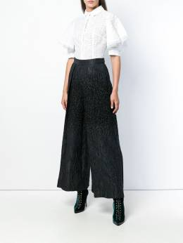 Talbot Runhof - pebbled wide-leg trousers 96CI9593955999000000