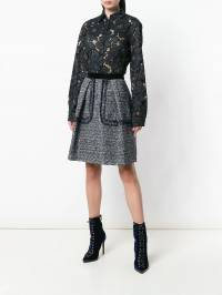Talbot Runhof - sequinned tweed skirt WOOD9CE3690939865000