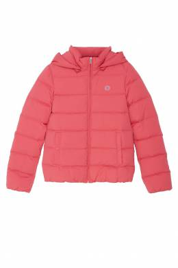 Розовая стеганая куртка Gucci Kids 1256104139