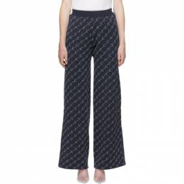 Stella Mccartney	 Blue Monogram Lounge Pants 553432S1967