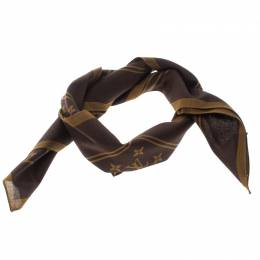 Louis Vuitton x Supreme Brown Monogram Printed Cotton Bandana Scarf 166973