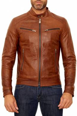 leather jacket Ad Milano DAR703_TAN
