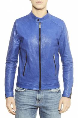 leather jacket Ad Milano DAR741_BLUETTE