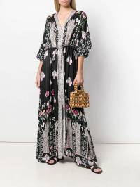 Temperley London - платье-туника 'Beaumont Flux' с принтом BEU50996936580000000