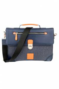 briefcase WOODLAND LEATHER BR1568_NAVY