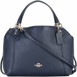 Coach Blue Leather Edie 28 Shoulder Bag 199183