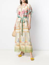 Temperley London - платье-кафтан Athena с принтом ATH53656938995330000