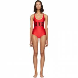 Gucci Red Sparkling One-Piece Swimsuit 191451F10300504GB