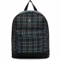 Opening Ceremony Navy and Red Plaid Backpack