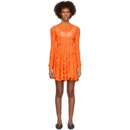 Stella Mccartney	 Orange Lace Linear Dress 563636S2073
