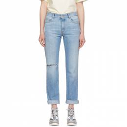 Stella Mccartney	 Blue Straight-Leg Jeans 548308SMH58