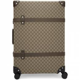 Gucci Beige Globe-Trotter Edition Large GG Suitcase 182451M17300101GB