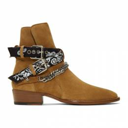 Amiri Brown Suede Bandana Buckle Boots 192886M22800504GB