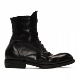 Guidi Black Lace-Up Boots 995