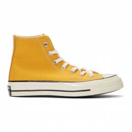 Converse Yellow Chuck 70 High Sneakers 162054C