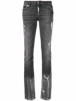 Philipp Plein ripped washed slim jeans WDT0924PDE004N