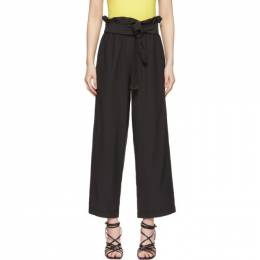 3.1 Phillip Lim Black Cropped Paperbag Trousers 192283F08700104GB