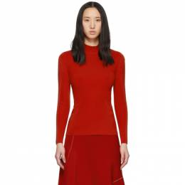 Victoria Beckham	 Red Open Back High Neck Sweater KNT 1802
