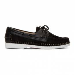 Christian Louboutin Black Steckel Loafers 1191315