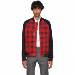 Paul Smith Red and Black Check Bomber Jacket M1R-569TM-A00736