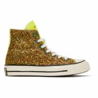 J.W. Anderson Green Converse Edition Glitter Chuck 70 High Sneakers 191477M23601218GB