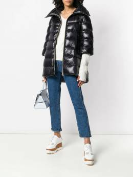 Herno - puffer front zipped coat 669DIC90693909993300