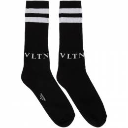 Valentino Black and Grey Valentino Garavani VLTN Socks TV3KI00L52M
