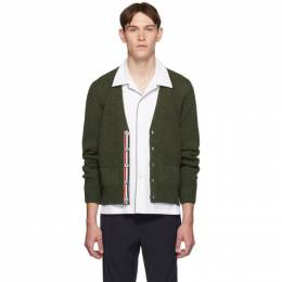 Thom Browne Green Relaxed-Fit Cardigan 192381M20001101GB