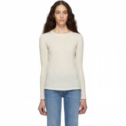 Max Mara	 Off-White Cashmere and Silk Zeno Sweater 13661199000 12009
